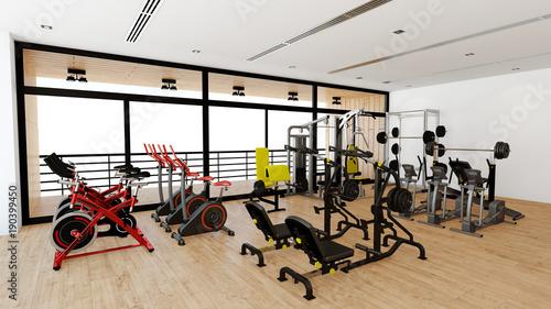 Plexiglas Fitness Geräte für Krafttraining im Fitnesscenter