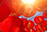Chinese Happy New Year red paper lantern decoration for event background - 190400218