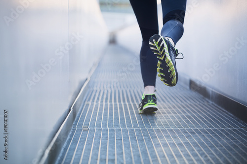 Fotobehang Hardlopen City Workout - Jogging