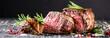 Leinwanddruck Bild - Steak Gericht
