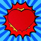 Fototapety Pop art heart.