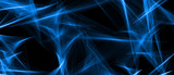 Abstract wavy background. Abstract Light blue wave on black background