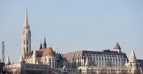 Staande foto Stockholm Cityscape of Buda from Pest across Danube River, Budapest, Hungary, Europe