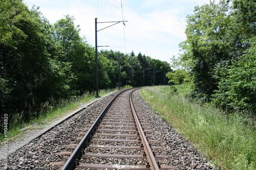 Foto Spatwand Spoorlijn Eisenbahnstrecke Streckenführung Strecke