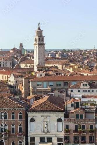 Foto op Plexiglas Venetie a tower in Venice Italy