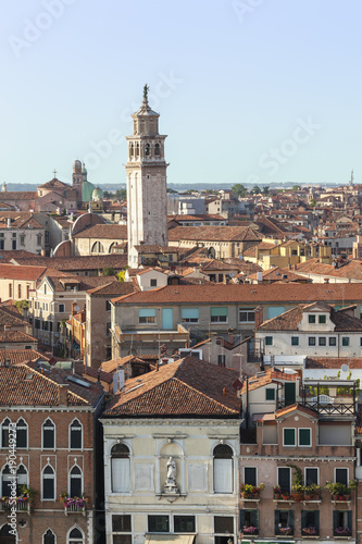 Foto op Canvas Venetie a tower in Venice Italy