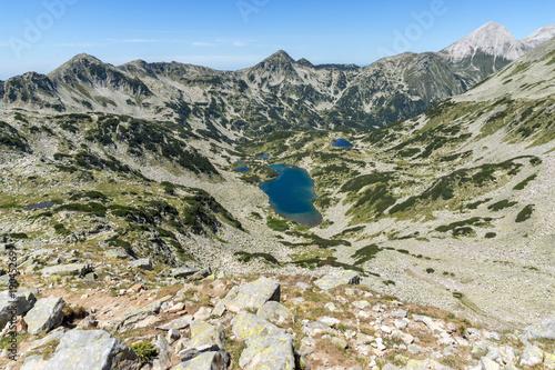 Fotobehang Khaki Amazing Landscape with The Long lake, Pirin Mountain, Bulgaria