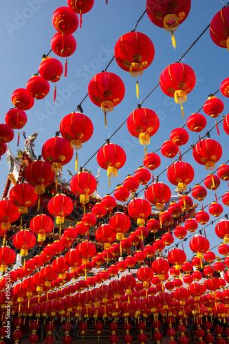 In de dag Kuala Lumpur Red lanterns at Thean Hou Temple, Kuala Lumpur Malaysia