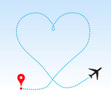 Heart shape track from plane - 190455290
