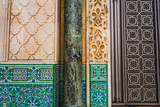 view of architectural shapes and patterns of Hassan II mosque - Casablanca - Morocco - 190456282