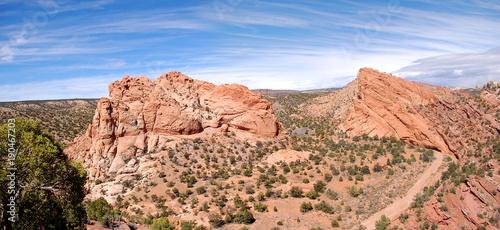 Fotobehang Zalm Panorama of desert landscape southern utah redrocks.