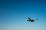 airplane on a blue background - 190481800