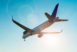 Aeroplane is flying landing at airport - 190481807