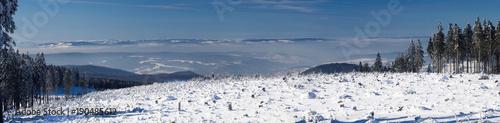 Panorama Winterlandschaft Mittelgebirge, Thüringen im Winter © formplus