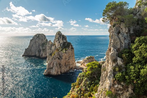 Staande foto Napels Beautiful landscape of the island of Capri, Italy.