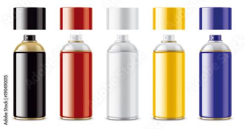 Fotobehang Graffiti Graffiti Spray Can Mockup. Non-transparent cap