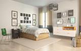 Bedroom in scandiavian style - 190493024