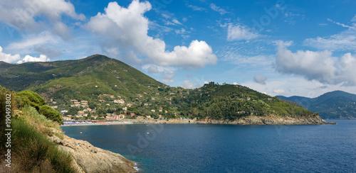 Poster Liguria Beach and Coast of Bonassola - Liguria - Italy
