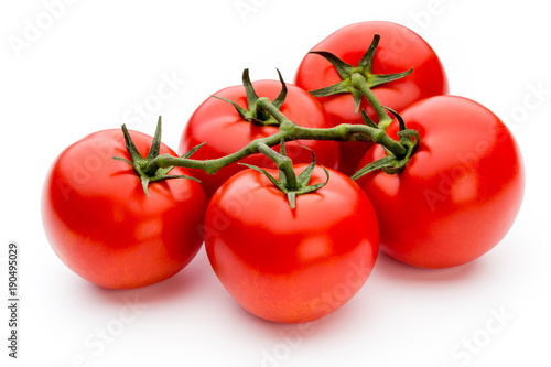 Foto Murales Tomato isolated on white background.