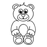 Ausmalbild Teddybär