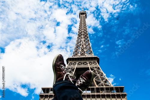 Foto op Plexiglas Eiffeltoren Torre Eiffel, Parigi, Francia