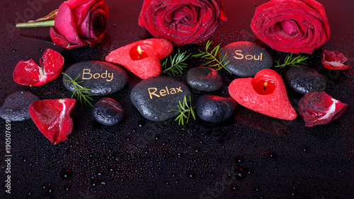 Wellness decoration, Spa concept in Valentine's Day