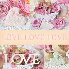 vintage style LOVE collage
