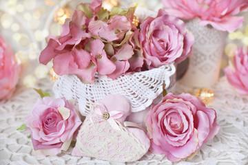 romantic decoration for wedding or valentines