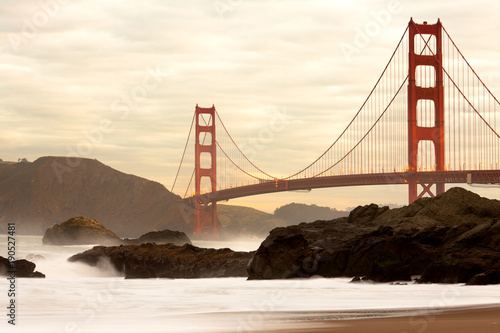 Fotobehang San Francisco Golden Gate Bridge from Baker Beach, San Francisco, California, USA
