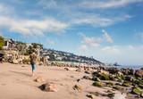 promenade sur la plage de Malibu - 190527868