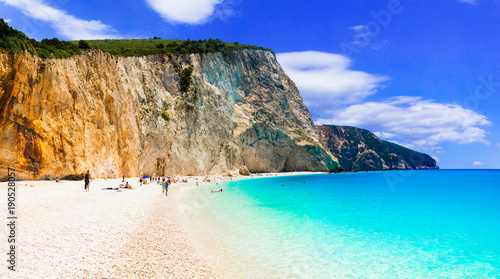 Fotobehang Freesurf Best beaches of Greece- Porto Katsiki in Lefkada, Ionian islands
