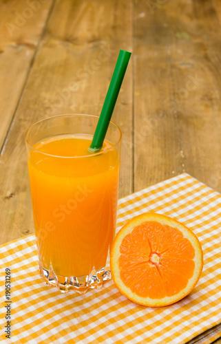 Fotobehang Sap Succo d'arancia