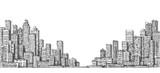 City landscape sketch. Hand drawn illustration - 190534439
