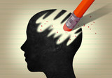 Head erased with pencil - 190541054