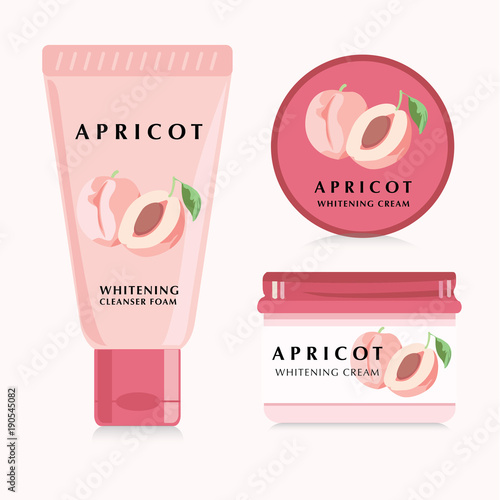 Apricot Packaging Design Skin Care.