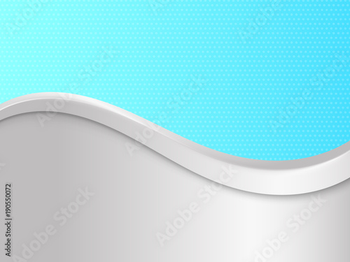 Siwieje i błękitny gradientowy tło z fala. Ilustracji wektorowych.