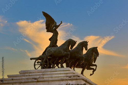 Foto op Canvas Rome Chariot in Rome with clouds