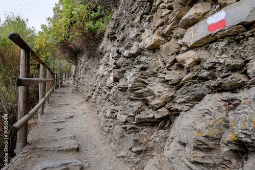 Papiers peints Ligurie Vernazza - Corniglia Path in Cinque Terre National Park, Liguria, Italy.