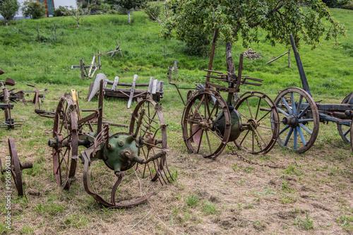 Fotobehang Fiets Landwirtschaftliche Maschinen