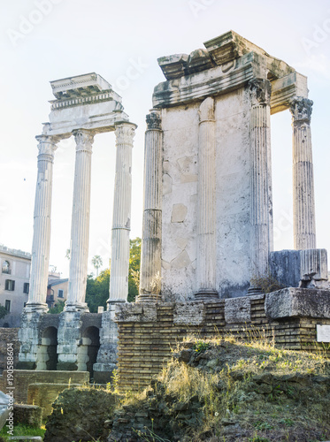 Foto op Canvas Rome Ancient columns at the Roman Forum, Rome, Italy