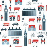 London vector seamless pattern - 190594412