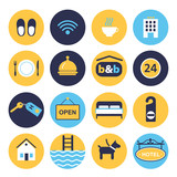set of icons for hotel service - 190594686