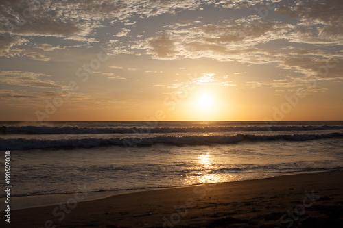 Fotobehang Strand Beach Sunset Nicaragua