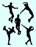 Silhouette of male dancer 03. Good use for symbol, logo, web icon, mascot, sign, or any design you want.