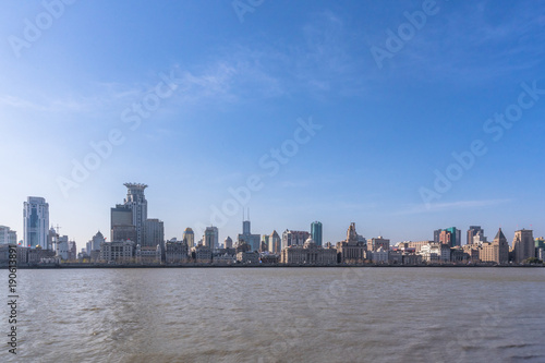 Foto op Aluminium New York modern office building and skyscape