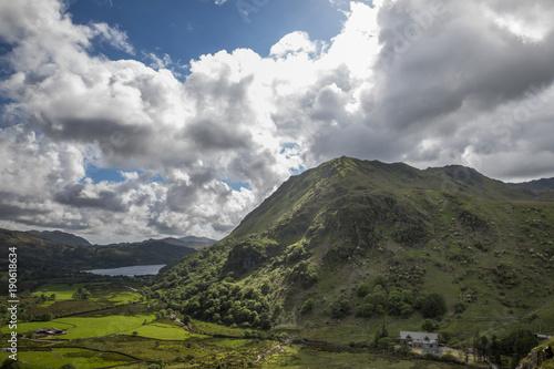 Fotobehang Bleke violet Snowdonia - Wales
