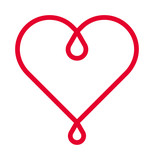 HEART red line vector icon