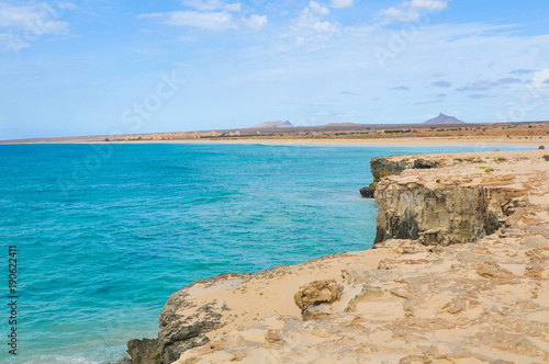 Foto op Aluminium Blauw Volcanic rocks in Cape Verde, Africa