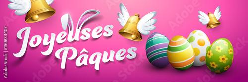 Fotobehang Hoogte schaal Joyeuses Pâques