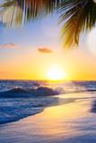 Art Beautiful sunset over the tropical beach - 190633686